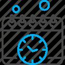 calendar, clock, management, schedule