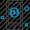 dollar, management, mobile, phone