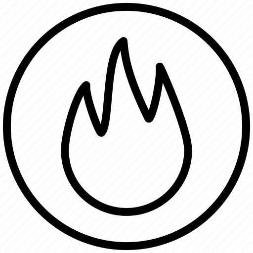 alarm, burn, camp, campfire, camping, fire, flame, forest, hot, reflective, torch, warm, wood icon