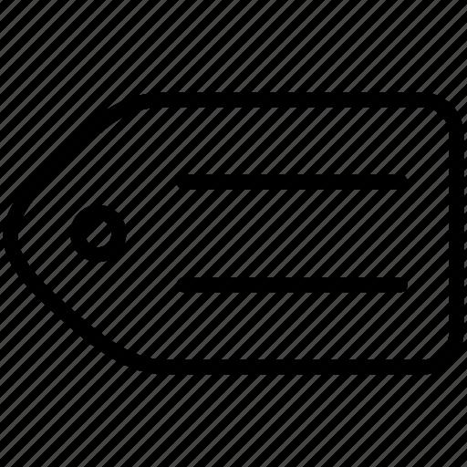 brand, category, designate, label, mark, tag, ticket icon