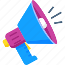 advertising, marketing, megaphone, promotion, sale icon