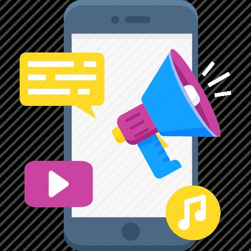 communication, media, mobile marketing, share, social icon