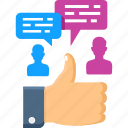 campaign, network, people, social, thumbs up, user