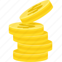 cash, coin, dollar, financial market, growth, money icon