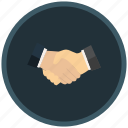 communicative, compromise, corporate, deal, friendly, hands, shake icon