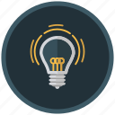 bulb, creative, idea, ingenious, invention, light icon