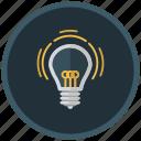 bulb, creative, idea, ingenious, invention, light icon