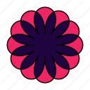 color, flower, hindu, indian, mandala, orient, yoga icon