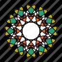 color, hindu, indian, mandala, orient, yoga, zen icon