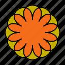 color, indian, mandala, monogram, orient, yoga, zen icon