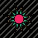 color, flower, indian, mandala, star, yoga, zen icon
