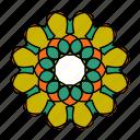 color, hindu, logo, mandala, orient, yoga, zen icon