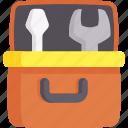 construction, repair, toolbox, tools