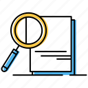 analysis, file, research icon