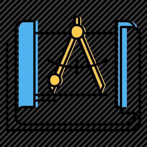 blueprint, design, engineering icon
