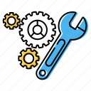 cogwheel, engineering, gear, maintenance icon
