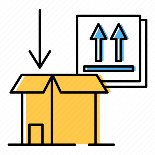 box, labeling, packaging icon