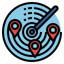area, location, maps, pin, positional, radar, technology