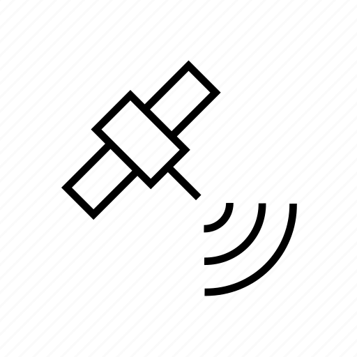 communication, gps, location, map, satellite icon
