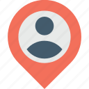 map, navigation, location, pin, user