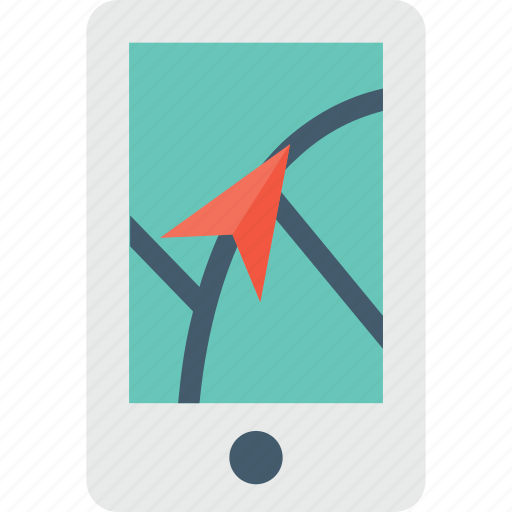 map, mobile, navigation icon