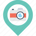 location, marker, navigation, photo, photography icon
