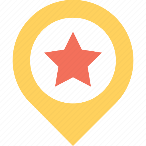favorite location, location, map, pin, star icon