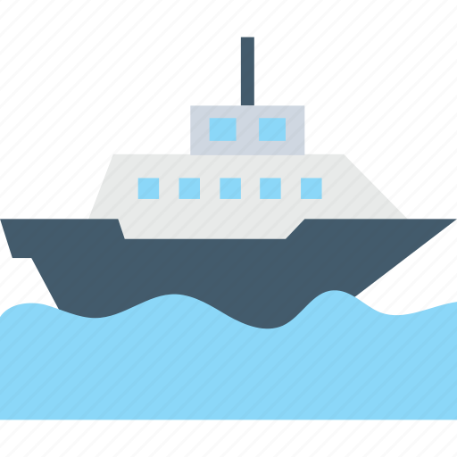 boat, cruise, shipping, transport, vessel icon