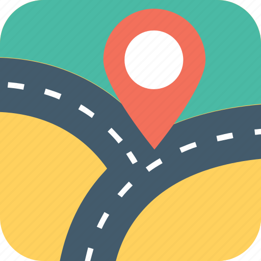 gps, navigator, path, roadmap, roadway icon