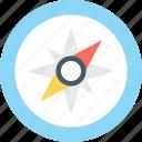 navigational, directional tool, compass, speedometer, gps icon