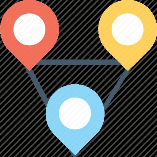gps navigator, map pin, road infographic, roadmap, roadway icon