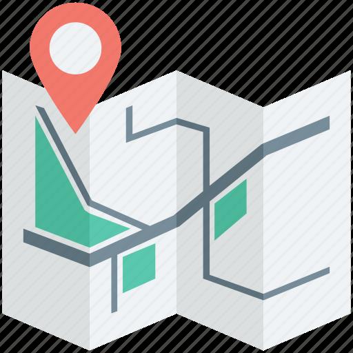 gps, location, map, marker pin, navigation icon