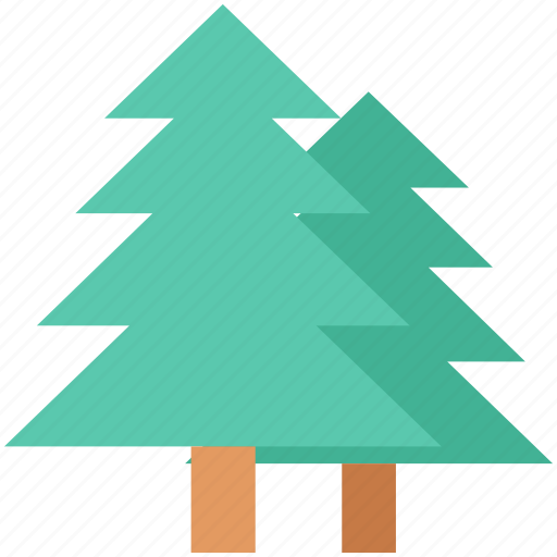 evergreen trees, fir trees, greenery, pine trees, trees icon