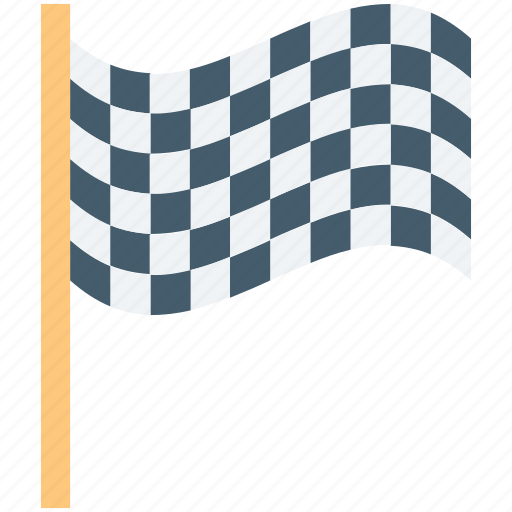 checkered flag, ensign, flag, racing flag, signal icon