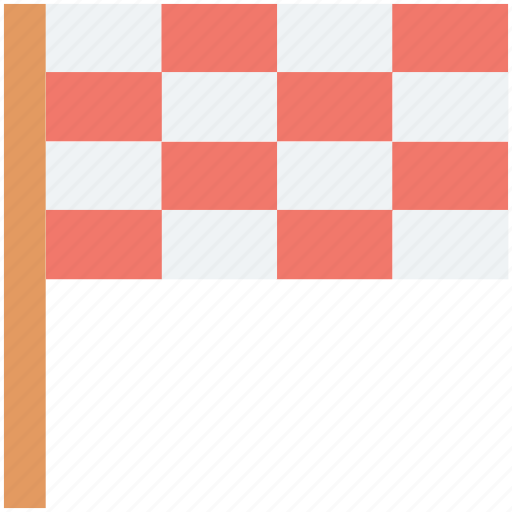 checkered flag, ensign, flag, racing flag, signal icon