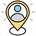 internet locator service, web user location, user location, geographical positioning of a user, user presence information icon
