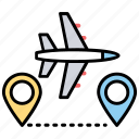 active aircraft tracking, live flight tracker, gps aircraft tracking, satellite-based airplane tracking system icon