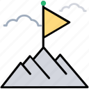hill station, valley, traveling, landscape, snowy peaks icon
