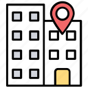 gps navigation, location holder, map pin, office address, office location icon