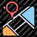 location marker, location pointer, map location, map locator, map pin