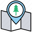 forest location, gps navigation, map of park, park location, parks nearby icon