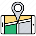 mobile navigation app, mobile navigation website, gps navigation, android navigation app, tracking app icon