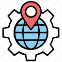 geomarketing, geotargeting, local seo, location marketing, place optimization icon