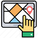 navigation software, navigation website, online map, online navigation, tracking app icon