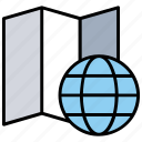 earth planet, global location, global map, globe grid, world map icon