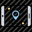 gps navigation, mobile gps, mobile navigation, mobile tracker, navigation app icon