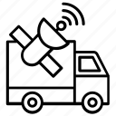 cargo tracking, satellite navigation, satellite tracking, shipping tracking, vehicle tracking icon