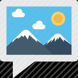 landscape, photo, photogram, picture, scenery icon