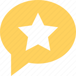bubble, chat, favorite, location, star icon