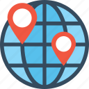 global network, internet, planet, world map, worldwide